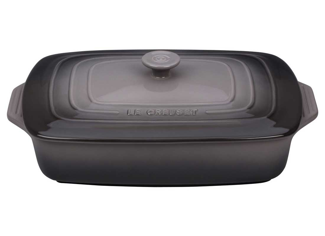 Le Creuset 3.5 Quart Covered Rectangular Stoneware Casserole - Oyster