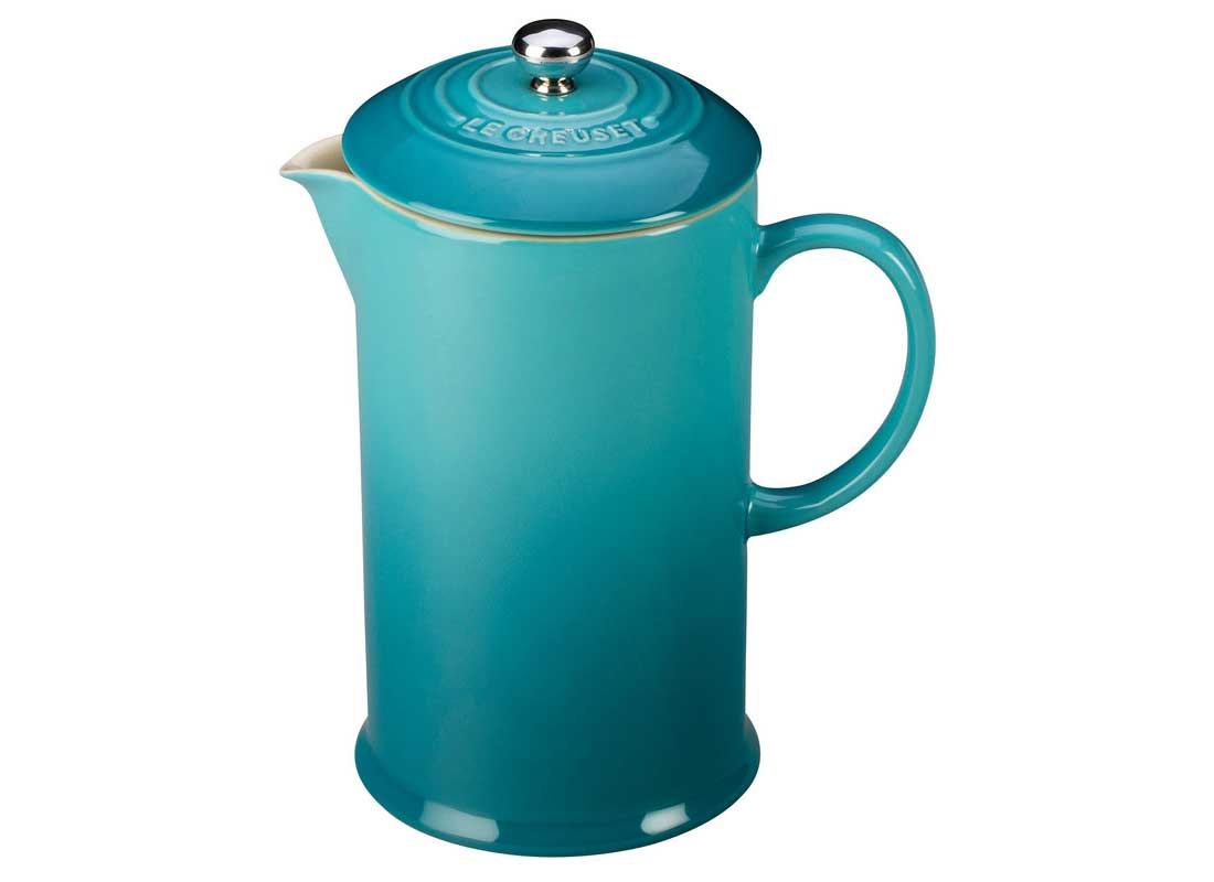 Le Creuset 27 Ounce Stoneware French Press - Caribbean