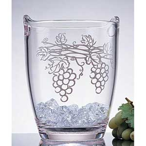 Acrylic Wine Bucket with Grape Cluster Design