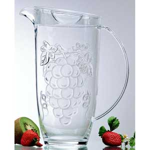 Acrylic Embossed Grape Pitcher
