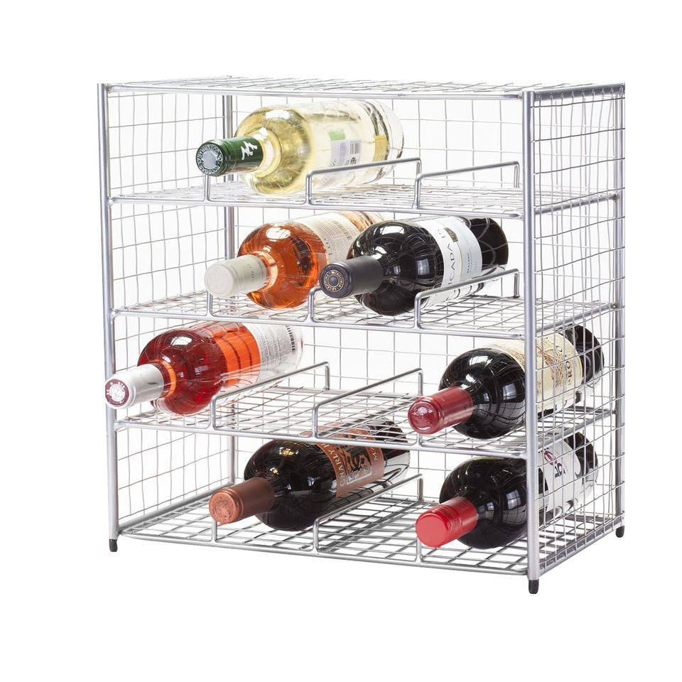 Chrome 16 Bottle Wire Bin