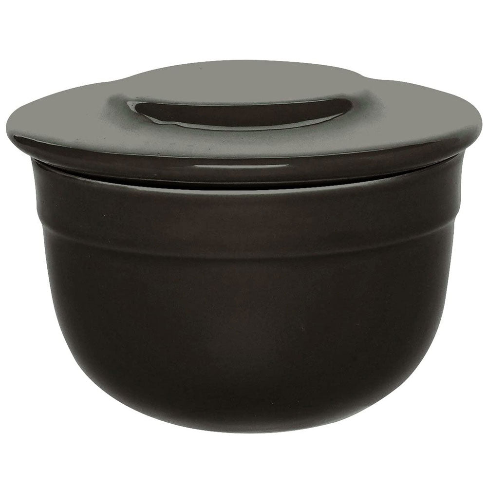 Emile Henry Ceramic 7 Oz Butter Pot - Charcoal