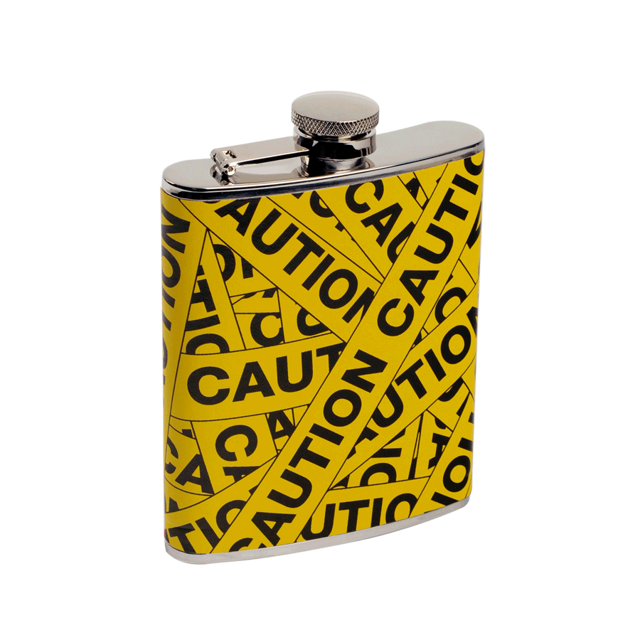 """Caution"" 6 oz. Flask"