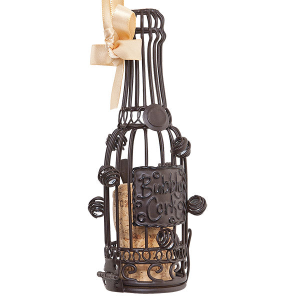 Champagne Cork Cage Bottle Ornament