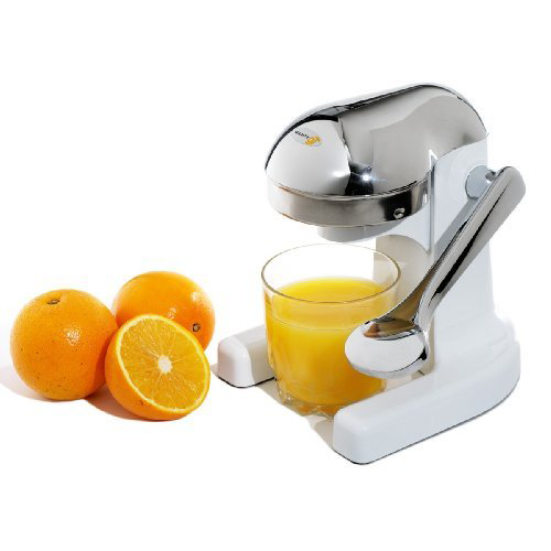 Metrokane Mighty OJ Home Juicer White - Chrome Head