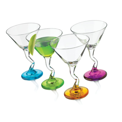 Libbey Z-Color Martini 9oz Glassware (Set of 4)