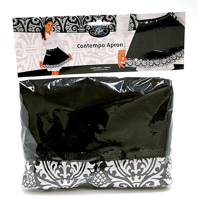 Apron - Contempo- Black & White Velvet