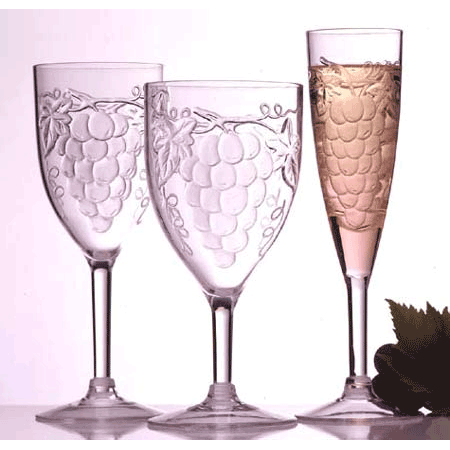 Acrylic White Wine Glasses (Set of 4)