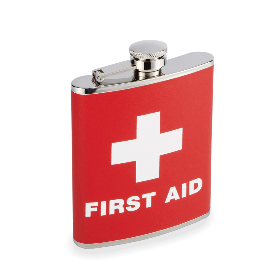 """First Aid"" 6 oz. Flask"