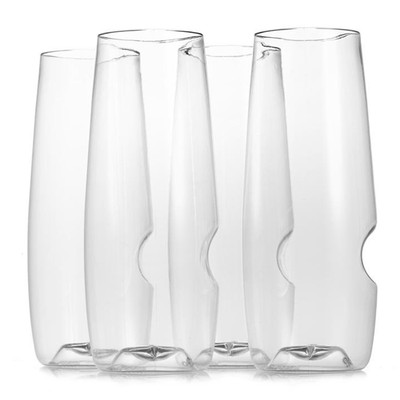 Govino Top Rack Series Shatterproof Champagne Glasses, Dishwasher Safe, Set of 4