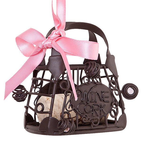 Handbag Cork Cage Bottle Ornament