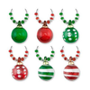 Happy Holidays Ornament Wine Glass Charms