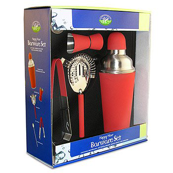 Happy Hour Barware Set - Red