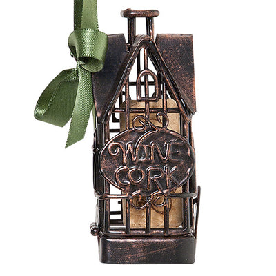 House Cork Cage Bottle Ornament