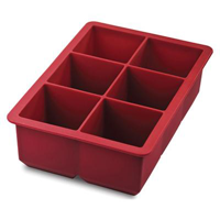 Tovolo King Cube Ice Tray- Chili Pepper Red