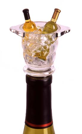 Acrylic Mini Napa Wine Bucket Bottle Stopper
