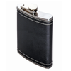 Oenophilia Wine Leather Flask w/ Stitching - 6 oz