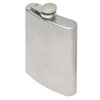 Oenophilia Brushed Stainless Steel Flask - 8 oz