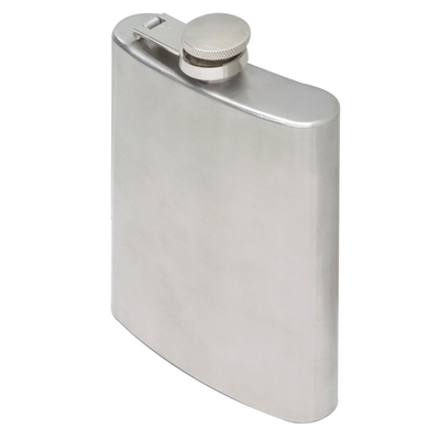 Oenophilia Brushed Stainless Steel Flask - 6 oz