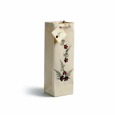 Pearl Wildflowers Wine Gift Bag - Set of 4