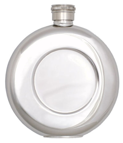 Round Pocket Stainless Steel Flask - 4.5 oz.