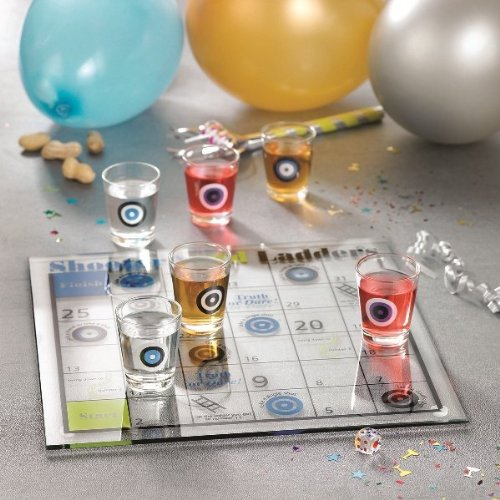 Shoots and Ladders Game Set with Shot Glasses