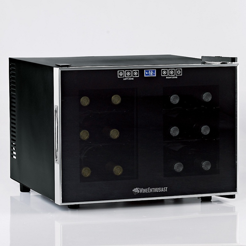 Silent Series12 Bottle Dual Zone  Wine Refrigerator w/ Touchscreen