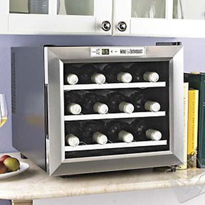 Silent Series12 Bottle Dual Zone  Wine Refrigerator w/ Touchscreen (Stainless Steel Door)