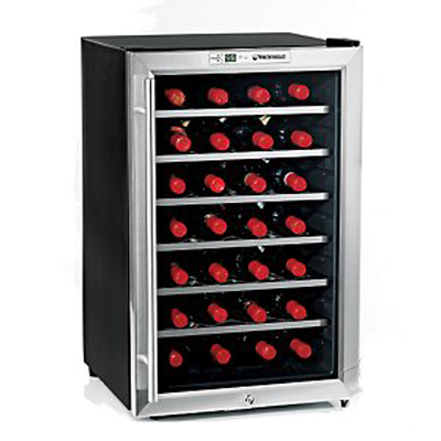 Silent Series 28 Bottle Wine Refrigerator w/ Touchscreen (Stainless Steel Door)