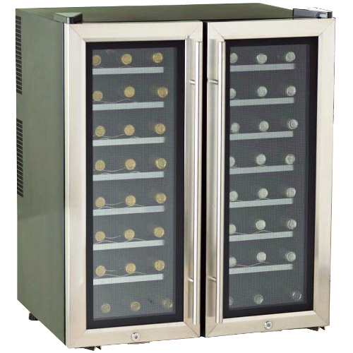 Silent Series 48 Bottle Dual Zone Double Door  Wine Refrigerator w/ Touchscreen (Stainless Steel Trim Door)