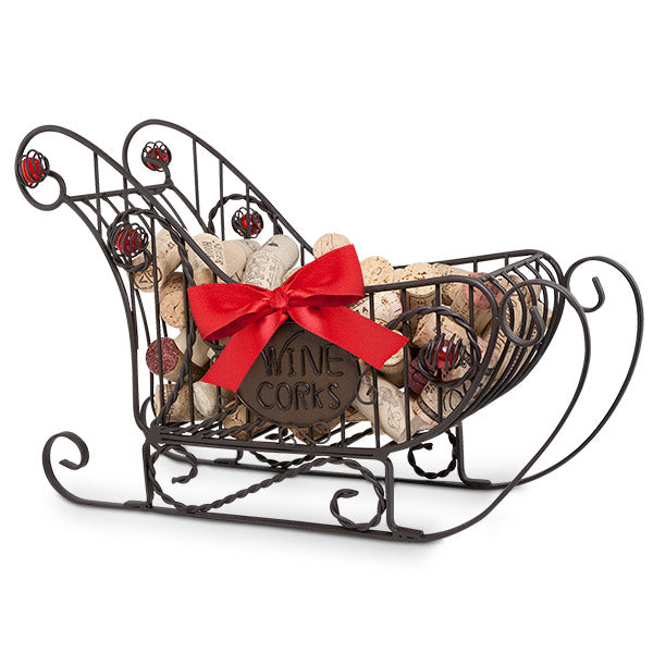 Sleigh Bottle Holder Cork Cage