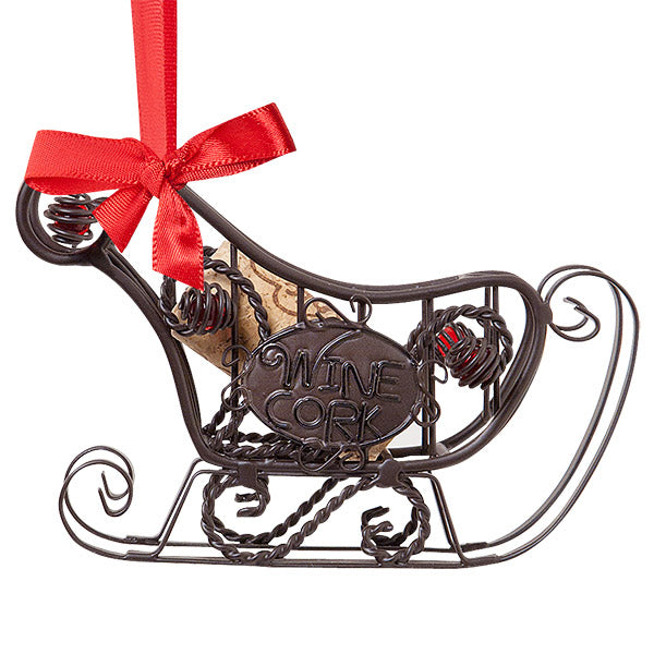 Sleigh Cork Cage Bottle Ornament