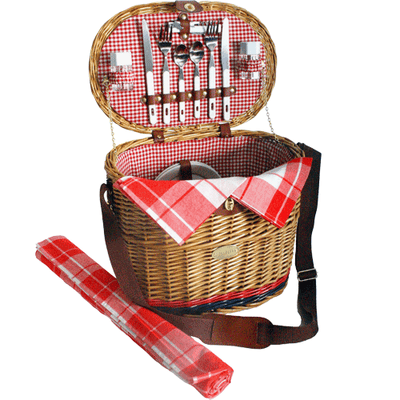 Sutherland Yorkshire Picnic Basket for 2