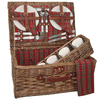 Sutherland Scottish Pasture Picnic Basket for 4