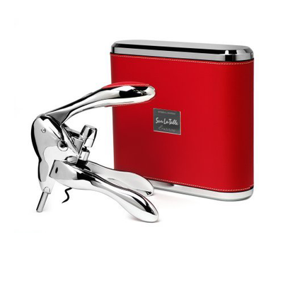 Metrokane Sterling Rabbit Corkscrew - Red Case