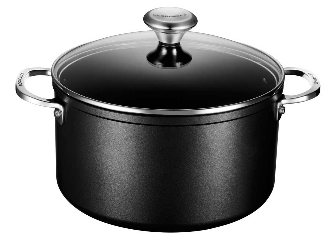 Le Creuset 6.3 Quart Toughened Nonstick Pro Stockpot w/Glass Lid