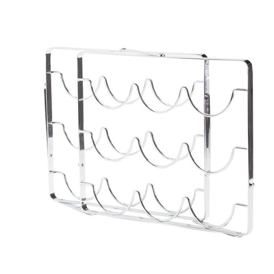 Swell 9 Bottle Chrome Wine Rack