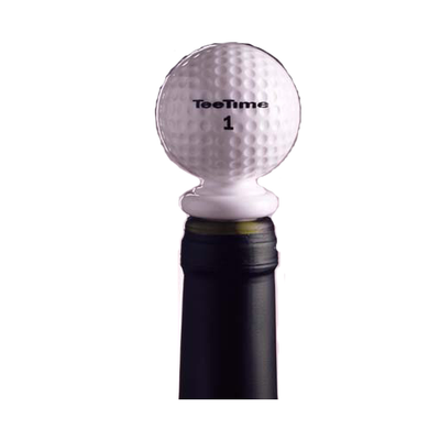 Tee-Time Acrylic Golf Ball Bottle Stopper