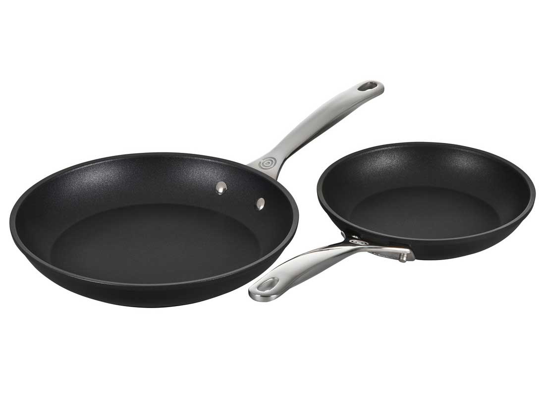 Le Creuset Toughened Nonstick Pro 2 Piece Fry Pan Set (9.5 & 11 Inch)