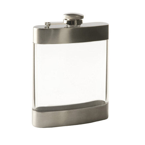 True Fabrications Clear Flask - 6 oz