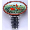 Porcelain Vineyard Medallion Wine Bottle Stoppers