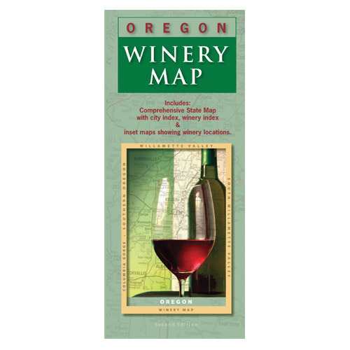 Oregon State Wine Map