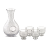 Epic Sake Set - Clear Crackled Glass