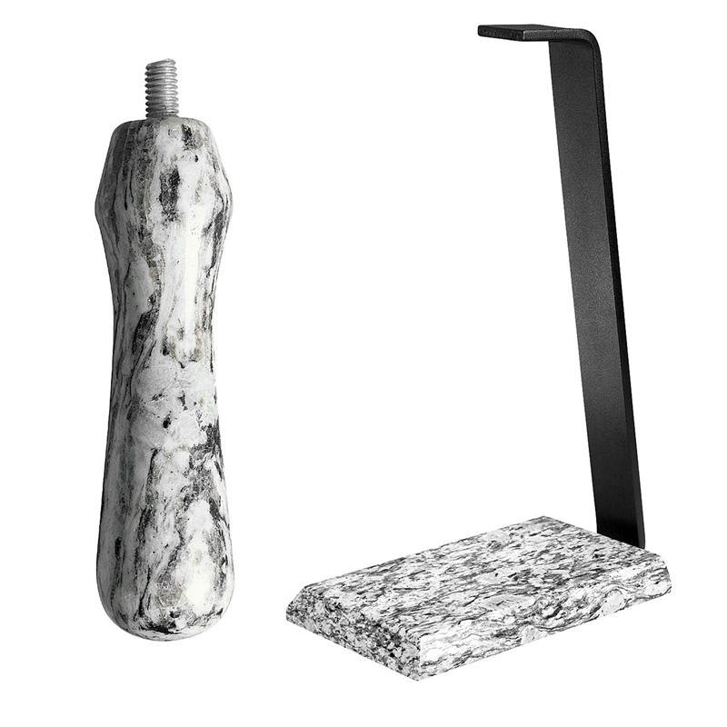 Granite Table Stand & Handle Set - White Wave