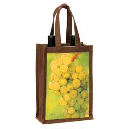Riesling Wine Double Bottle Jute Bag