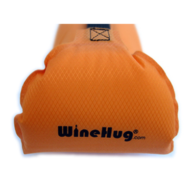 WineHug Self-Inflating Protective Travel Pouch