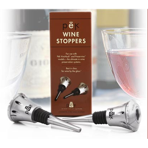 Pek Preservino Portable Wine Stoppers - Set of 2