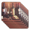 Vintage Wine Color Coasters (Set of 6)
