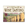 Vintage Wine Tasting Glass Cutting Board