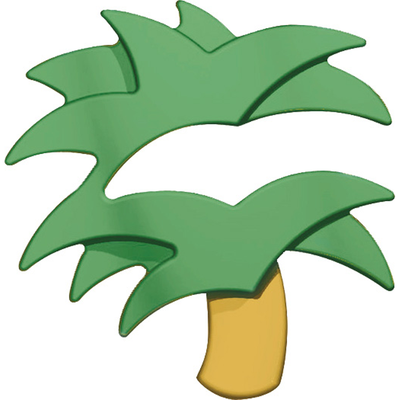 Cork Pops Palm Tree Foil Cutter